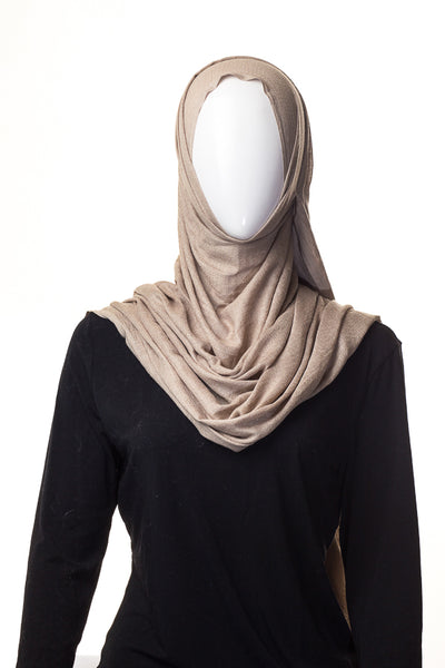 Semi Viscose Beige Gold Hijab