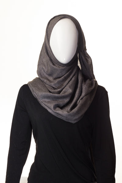 Semi Viscose Steel Grey Hijab