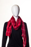 Plaid Carmine Hijab