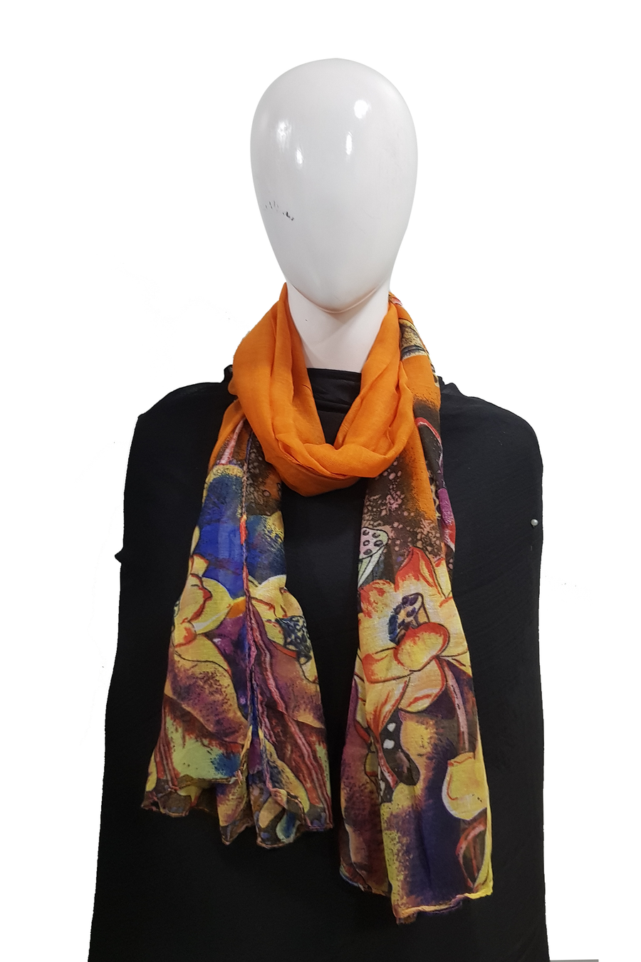 Floral tie n dye dull orange
