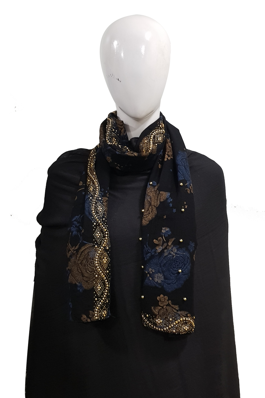 fancy printed georgette black hijab (2)