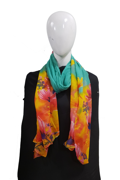 Floral tie n dye tuquoise