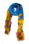Floral tie n dye blue-yellow