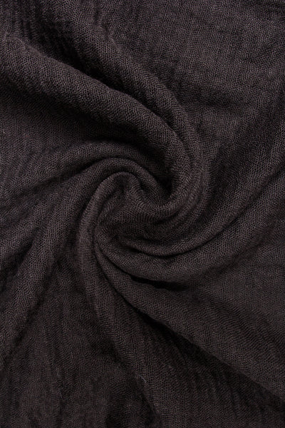 Soft Weave Crinkle Ink Black Hijab