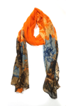 Floral tie n dye tang orange