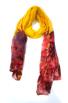 Floral tie n dye yellow-red