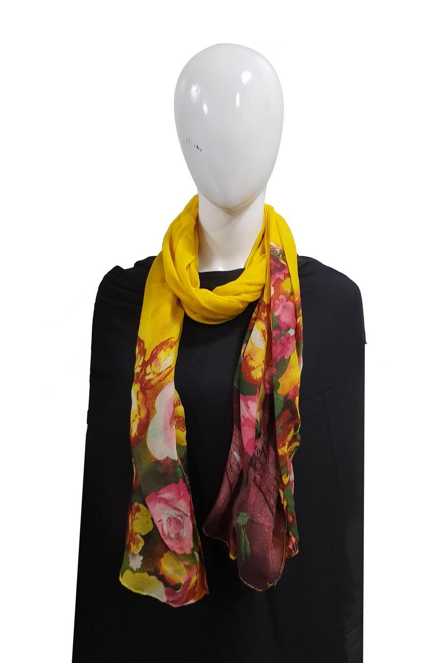 Floral tie n dye bright yellow