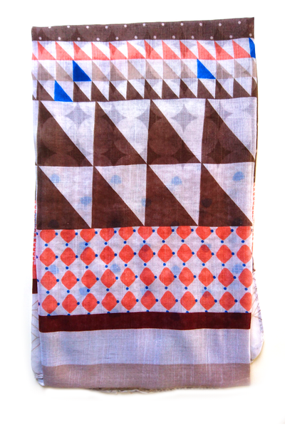 Soft color casuals geometric pattern hijab
