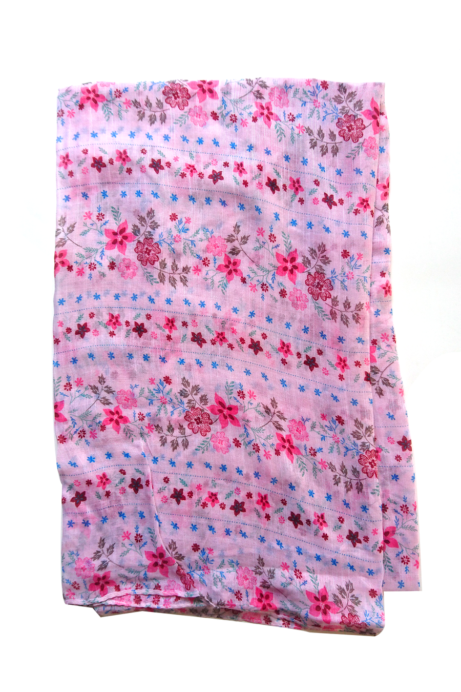 Soft color casuals flower pattern pink hijab