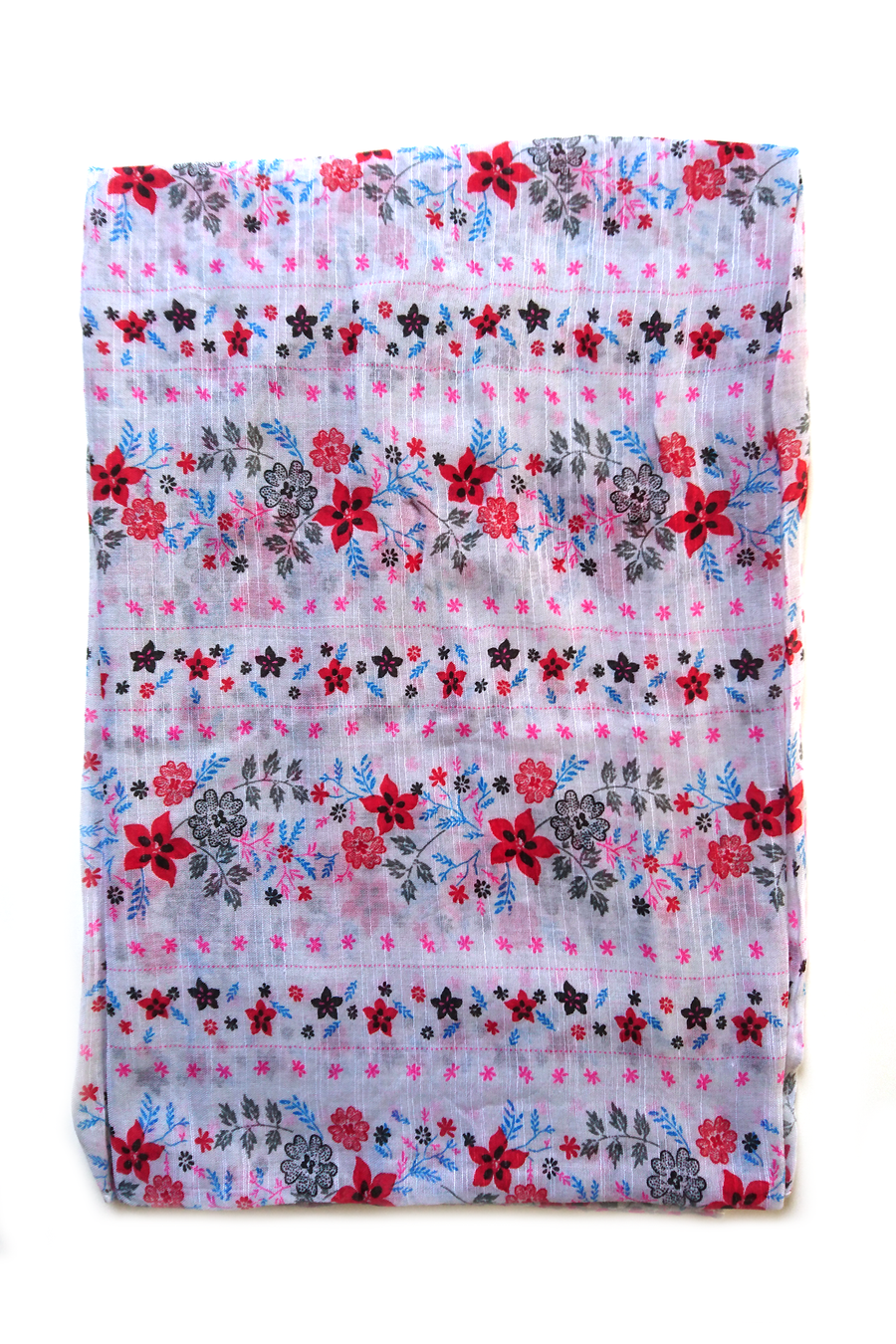 Soft color casuals flower pattern hijab