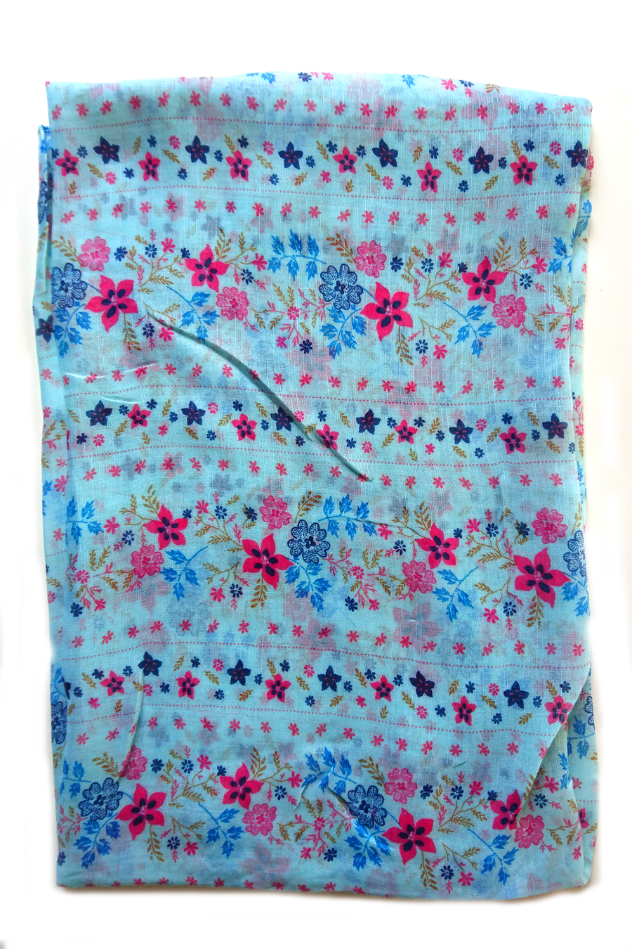 Soft color casuals flower pattern baby blue hijab