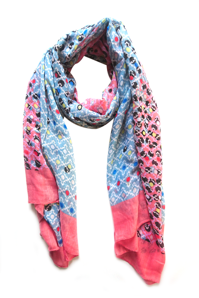 Soft color casuals dotted pattern hijab