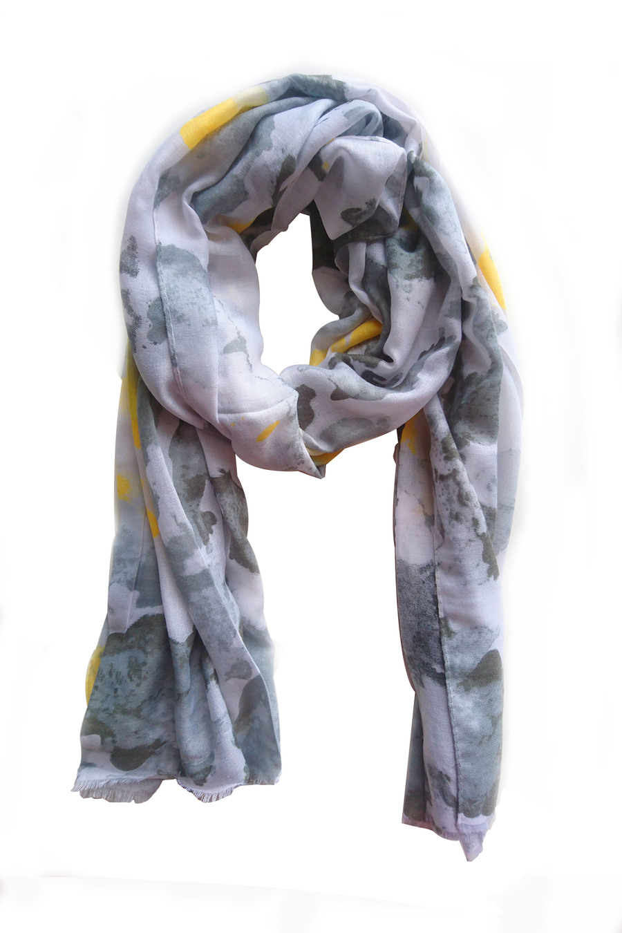 Turkish Printed Grayish Hijab