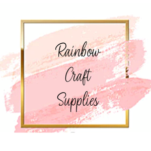 Rainbow craft supplies