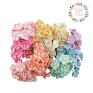 15 mm pastel sweetheart blossom mulberry flowers