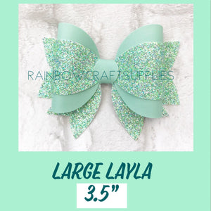 "Layla 3.5"" triple layer bow cutting die"