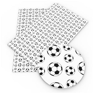 Football patterned leatherette fabric