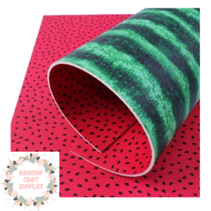 Double side watermelon fabric leatherette fabric