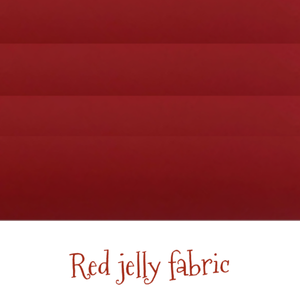 Matte red jelly fabric A4