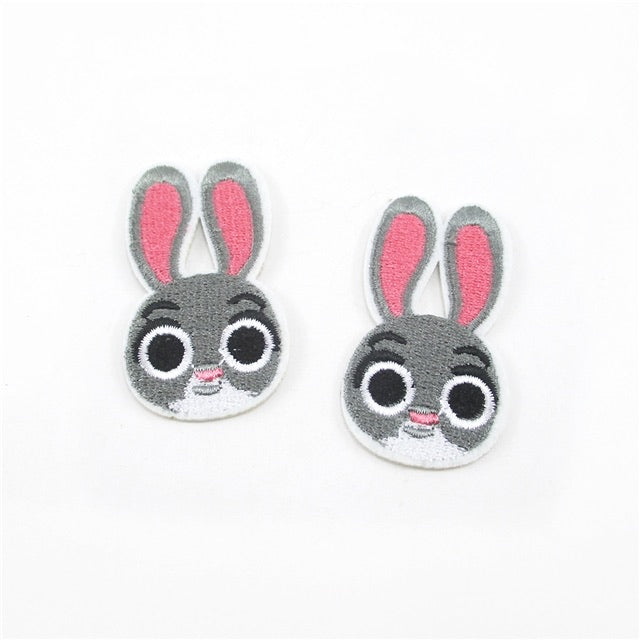 Bunny embroidered felt embellishments