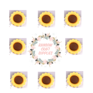5 x cute sunflower flatback Embellishments