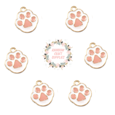 Easter bunny paw charms
