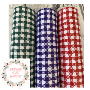 gingham leatherette fabric A4