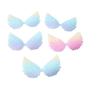 Ombre glitter angel wing embellishments 7.cm x 5 pack