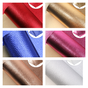 Quality metallic leatherette fabric 35 x 21 cm