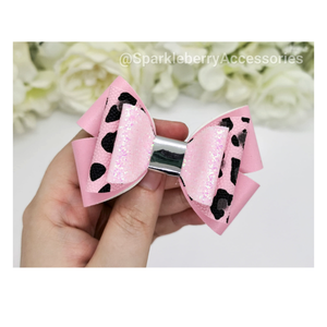 "Lola 3.5"" triple loop plastic hairbow template"