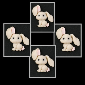 Cutest little bunny flatback Embellishments x 4