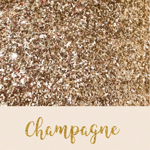 Champagne chunky glitter fabric A4