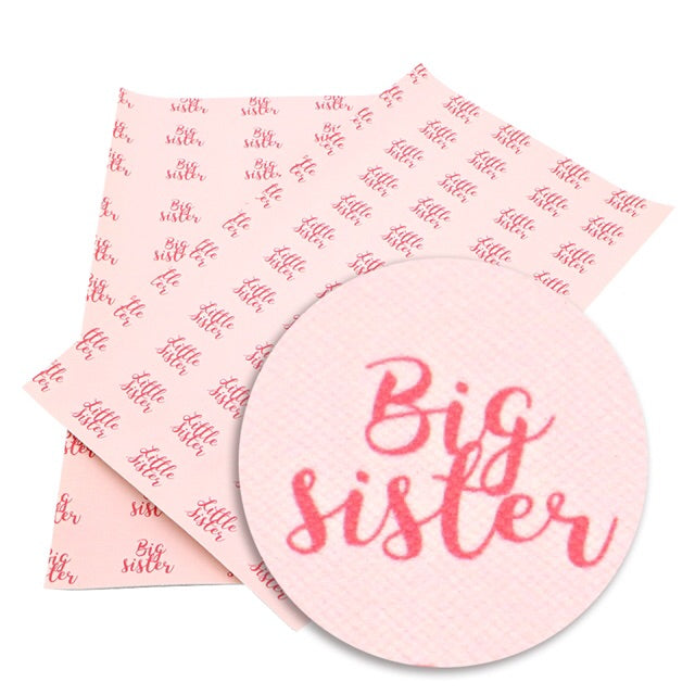 Big sister printed leatherette fabric A4