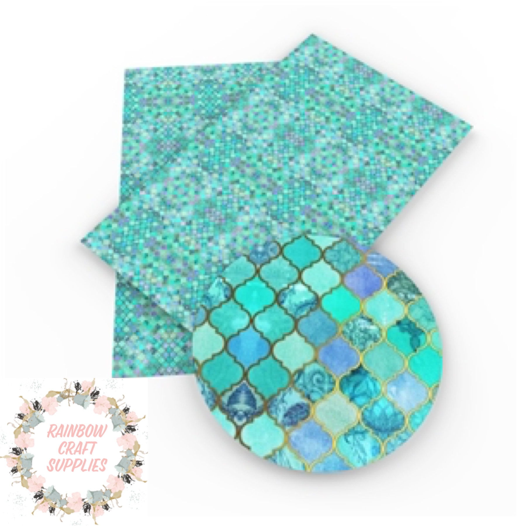 Mermaid tail patterned leatherette fabric