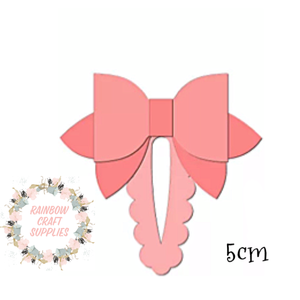 Scallop snap clip  with bow plastic template 5cm