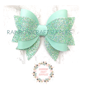 "Layla 3.5"" Template triple layer bow with tails"