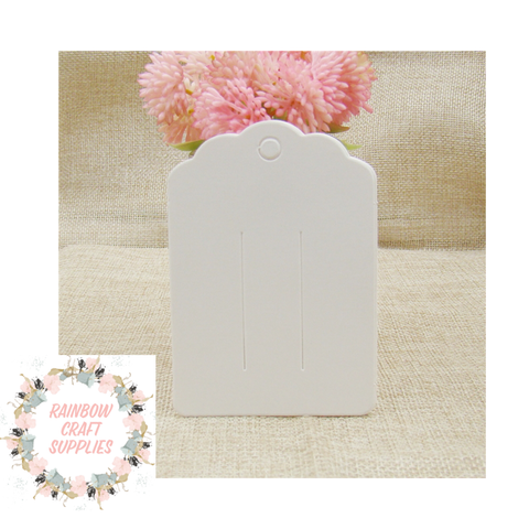 10 x hair bow display card holders white