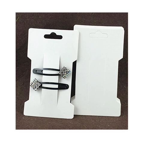 "10 x glossy white 4.75"" bow display cards"
