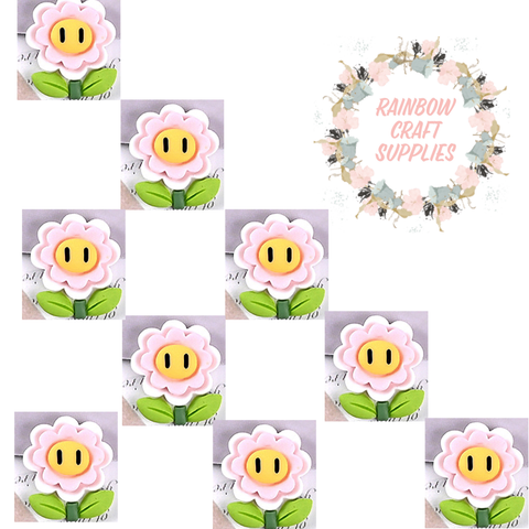 4 x cute flower flatback Embellishments