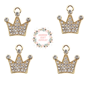 Rhinestone crown charms