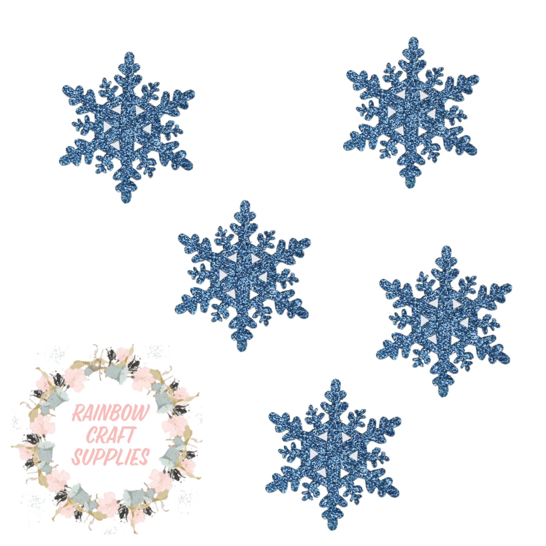 Snow flake glitter appliqué