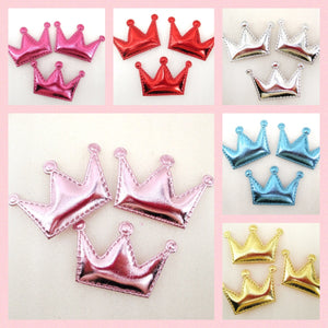 Padded crown embellishments 5.5cm (6 colours)
