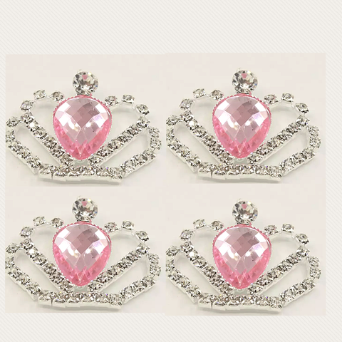 35mmx28mm Rhinestone Bling Gem Crown Flatback