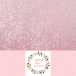 Baby pink Felt backed crushed velvet fabric ( fabric felt)