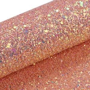 Gold Coast chunky glitter  fabric A4