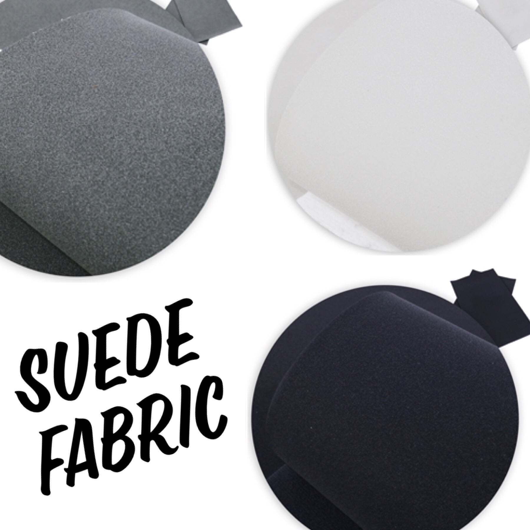Suedette fabric A4 3 colours available