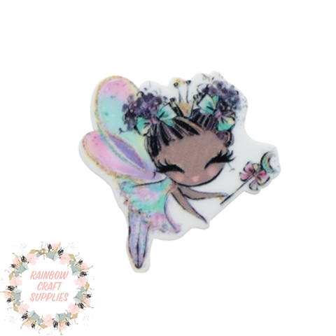 4 x cute fairy laser cut flatback Embellishments