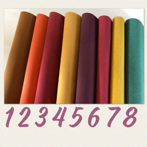 Faux suede fabric A4 many colours