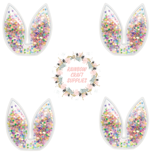 Bunny ears sequin filled pvc  Embellishments