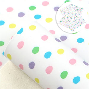 Pastel coloured Easter egg leatherette fabric
